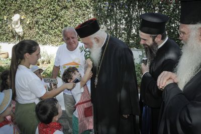 """Επίσκεψη του Αρχιεπισκόπου κ. Ιερωνύμου στο πρότυπο κέντρο προσχολικής αγωγής """"Ξεκίνημα""""  FOTO"""