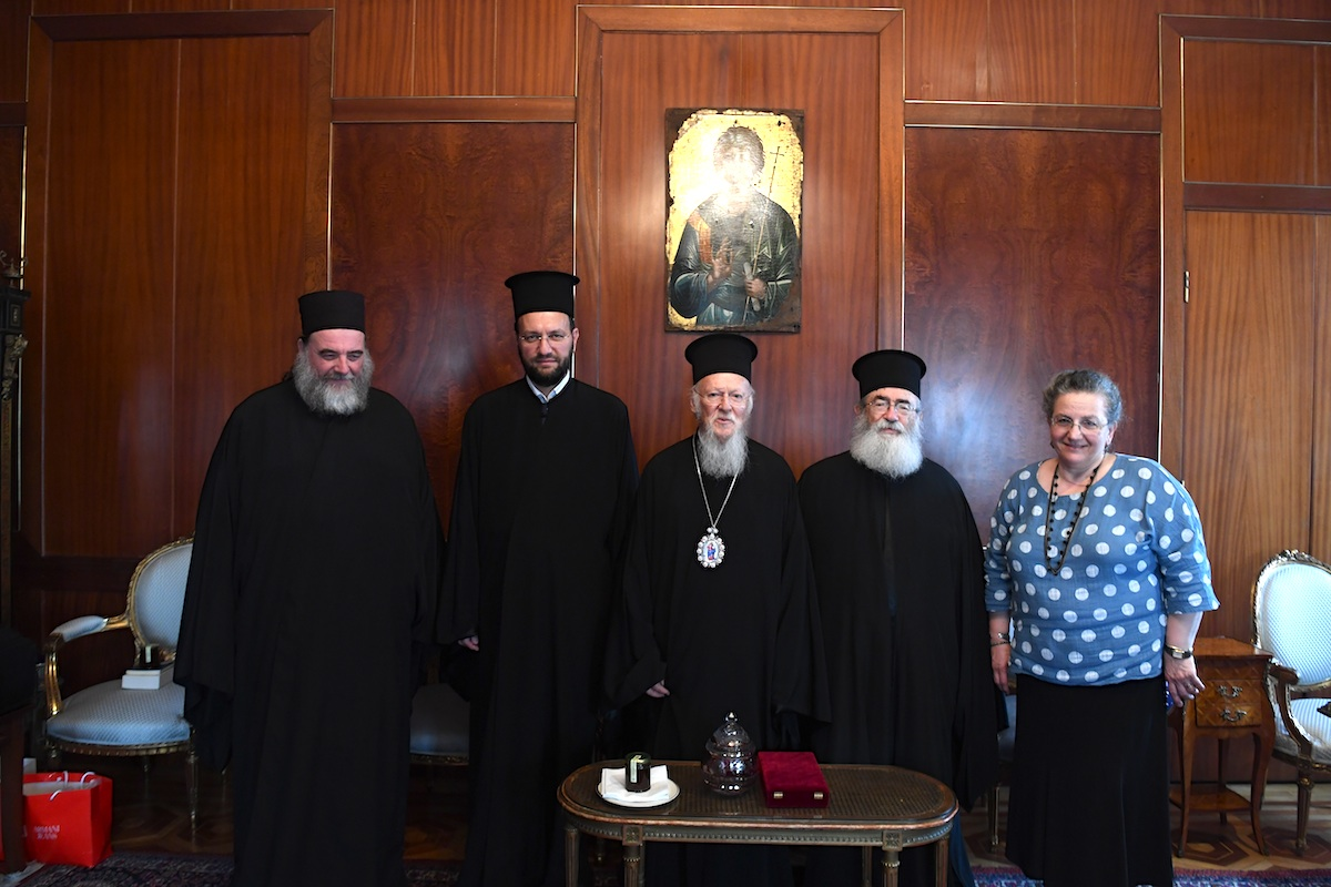 O Αρχιεπίσκοπος Σινά, Φαράν και Ραϊθώ Δαμιανός στο Οικουμενικό Πατριαρχείο FOTO