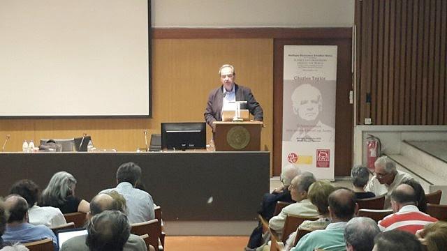Ακαδημία Θεολογικών Σπουδών Βόλου - Ο Χριστιανισμός στις σύγχρονες εκκοσμικευμένες πλουραλιστικές κοινωνίες Διάλεξη του Charles Taylor στην Αθήνα